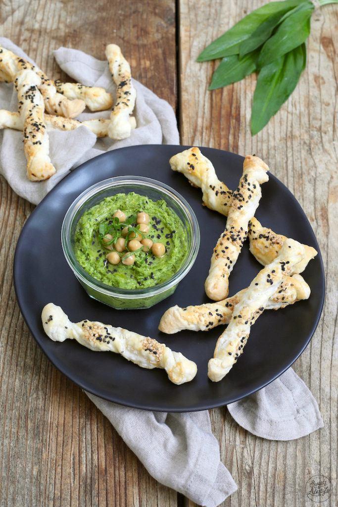 Würziger Bärlauch Hummus nach einem einfachen Rezept von Sweets & Lifestyle®