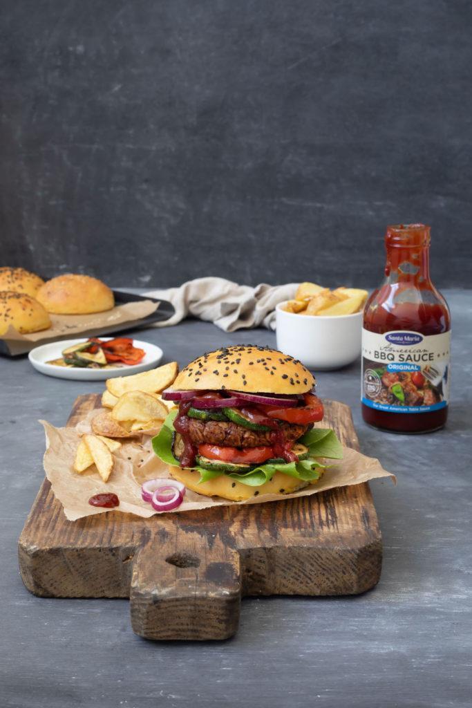 Vegetarischer Kidneybohnen Burger nach einem Rezept von Sweets & Lifestyle®