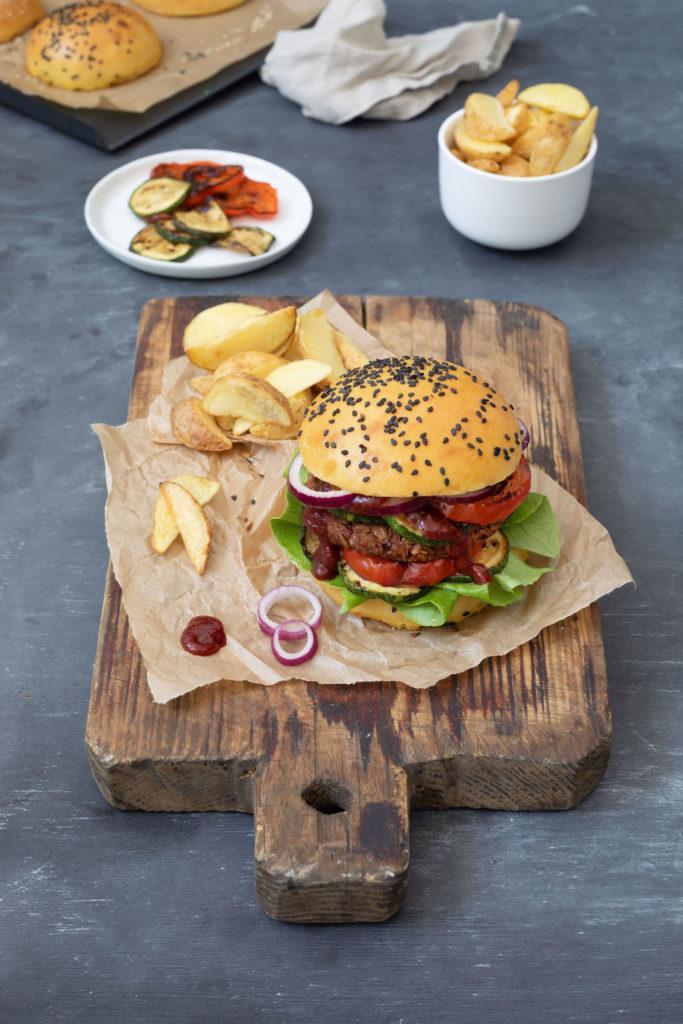 Vegetarischer Burger mit Kidneybohnen nach einem Rezept von Sweets & Lifestyle®