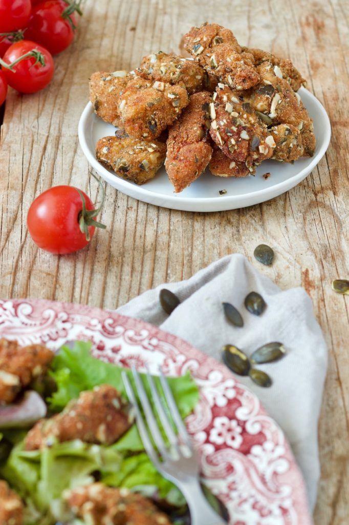 Hühnerbruststreifen in Kürbiskernparnier nach einem Rezept von Sweets & Lifestyle®