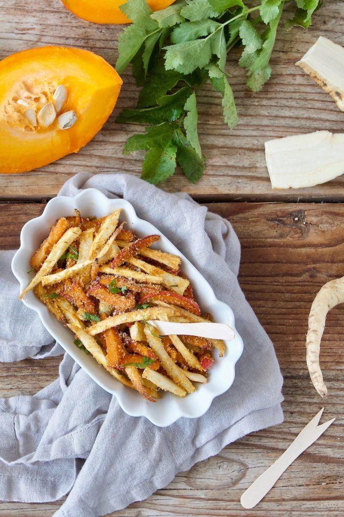 Kürbis Kohlrabi und Pastinake in Pommesform als Snack für Kinder nach einem Rezept von Sweets & Lifestyle®