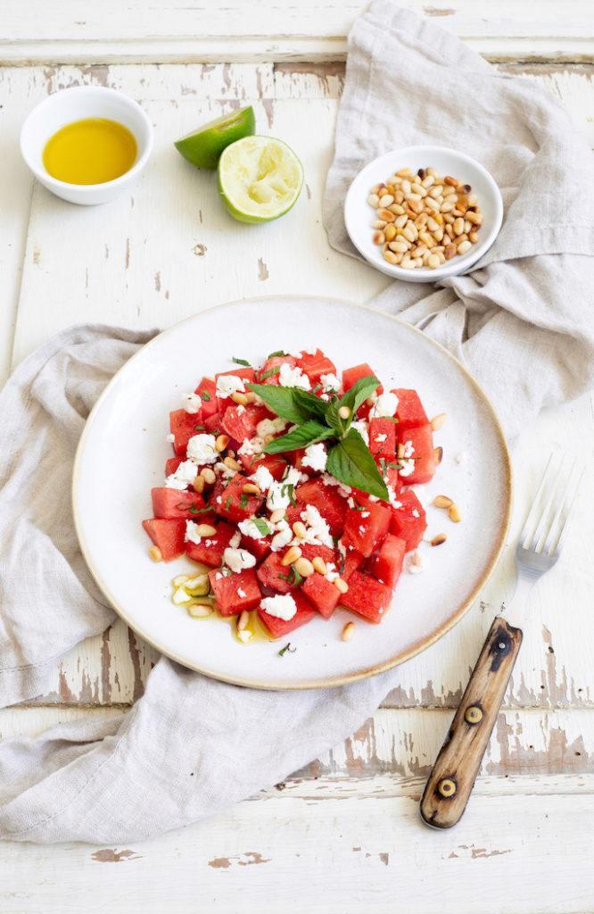 Wassermelonensalat mit Feta und Minze nach einem Rezept von Sweets & Lifestyle®