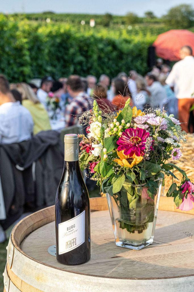 Zweigelt Reserve Burg 2017 vom Weingut Pfaffl als Weinbegleitung beim Tafeln im Weinviertel