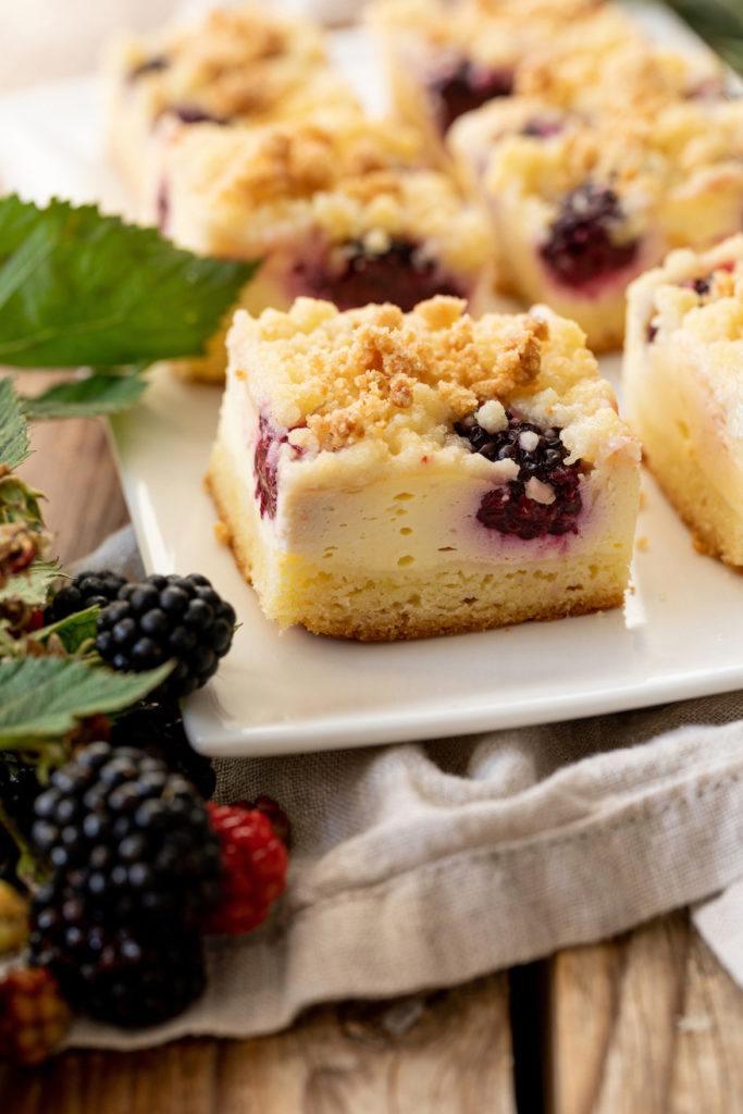 Leckeres Brombeerkuchen Rezept mit Topfen und Streusel von Sweets & Lifestyle®