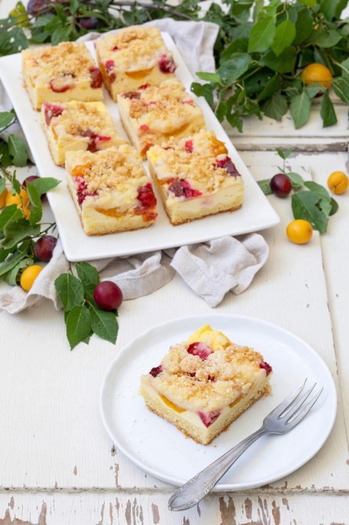 Mirabellen-Topfen-Kuchen vom Blech nach einem Rezept von Sweets & Lifestyle®