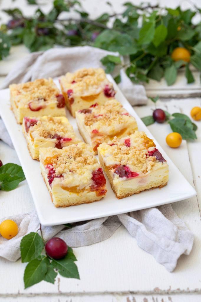 Mirabellenkuchen mit Streusel als Blechkuchen nach einem Rezept von Sweets & Lifestyle®