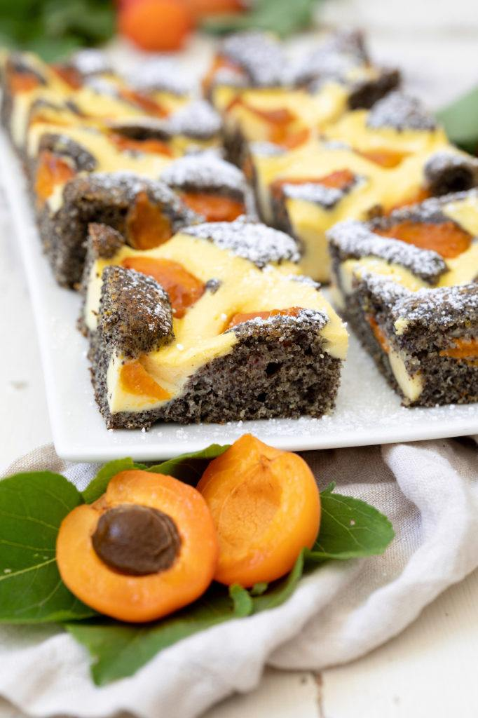 Saftiger Topfengitter-Kuchen mit Marillen nach einem Rezept von Sweets & Lifestyle®
