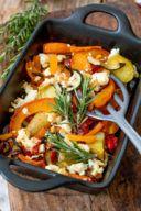 Herbstlicher Ofenkürbis mit Feta nach einem Rezept von Sweets & Lifestyle®