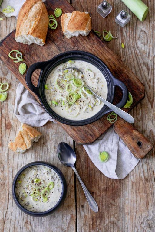Käse-Lauch-Suppe mit Faschiertem nach einem Rezept von Sweets & Lifestyle®