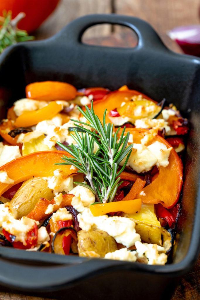 Kürbis-Kartoffel-Gemüse aus dem Ofen nach einem Rezept von Sweets & Lifestyle®