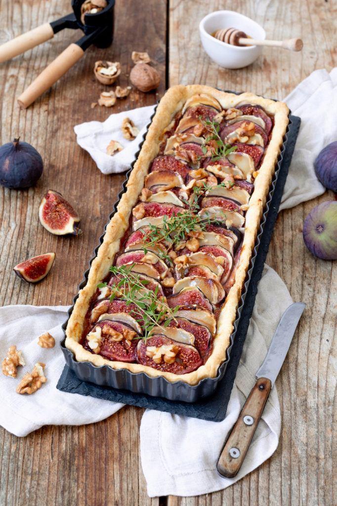 Herzhafte Feigentarte mit Ziegenkäse, Honig und Walnüssen nach einem Rezept von Sweets & Lifestyle®