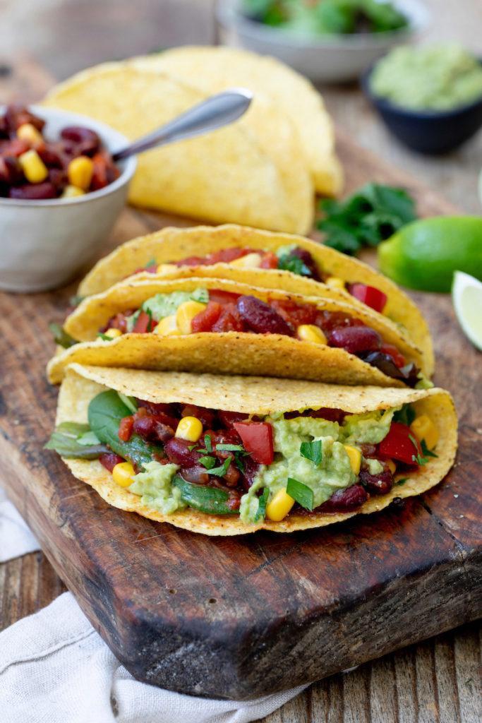 Leckere Tacos mit vegetarischer Bohnen-Füllung nach einem Rezept von Sweets & Lifestyle®