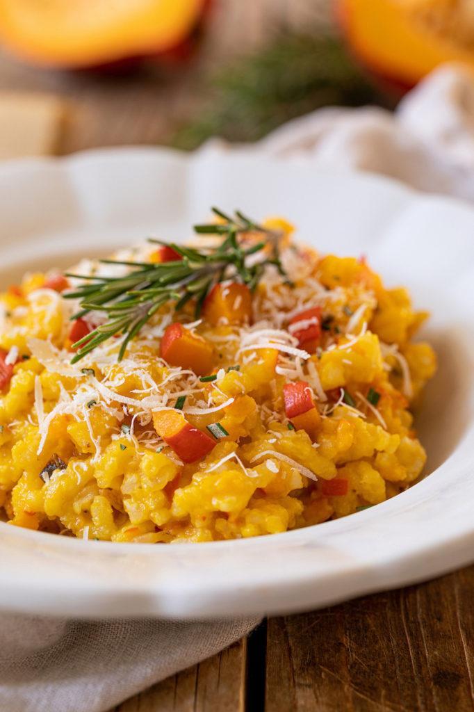 Cremiges Kürbisrisotto mit Parmesan und Rosmarin nach einem Rezept von Sweets & Lifestyle®