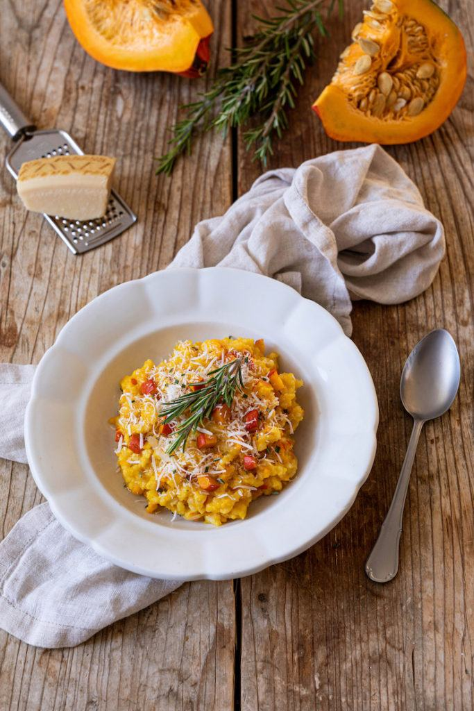 Kürbisrisotto mit Parmesan und Rosmarin nach einem Rezept von Sweets & Lifestyle®