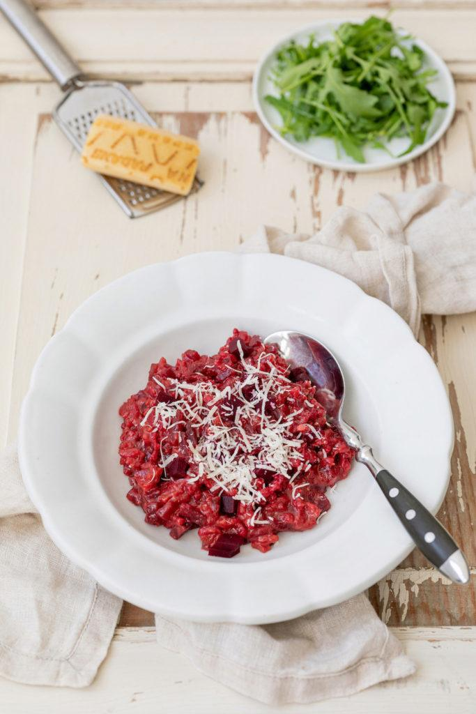 Leckeres Rote Rüben Risotto mit Parmesan nach nach einem Rezept von Sweets & Lifestyle®