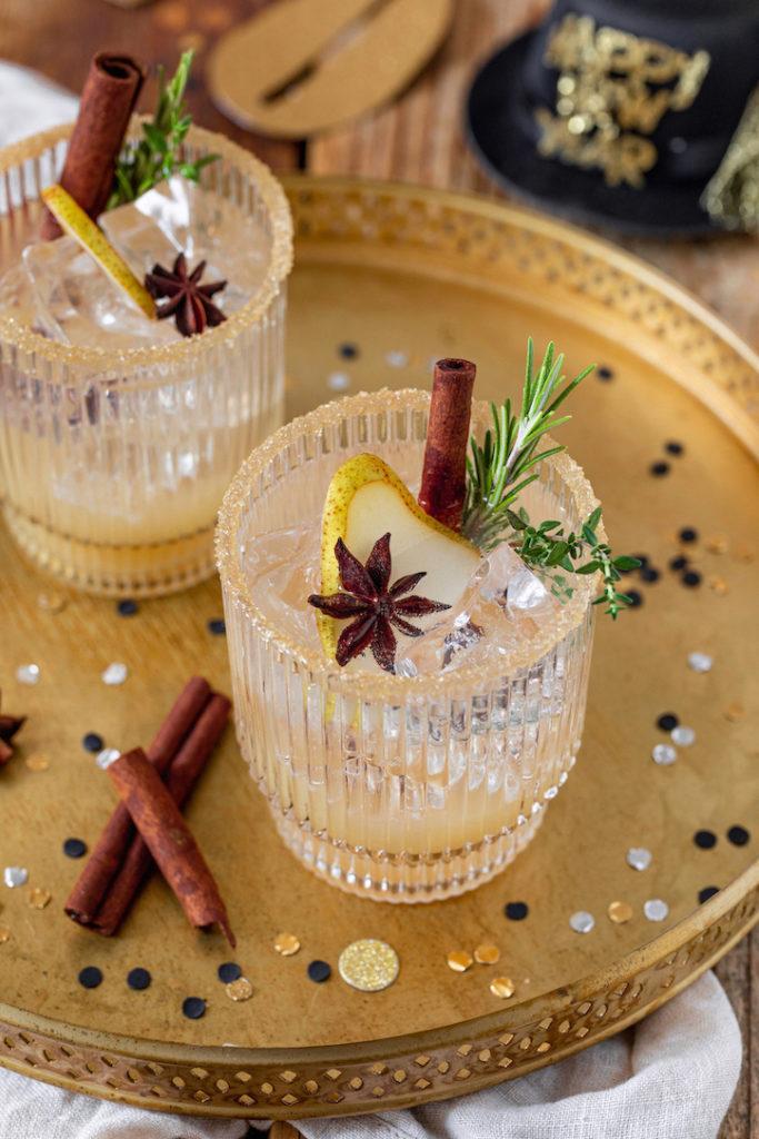 Alkoholfreier Birnencocktail (Birnen Mocktail) nach einem Rezept von Sweets & Lifestyle®