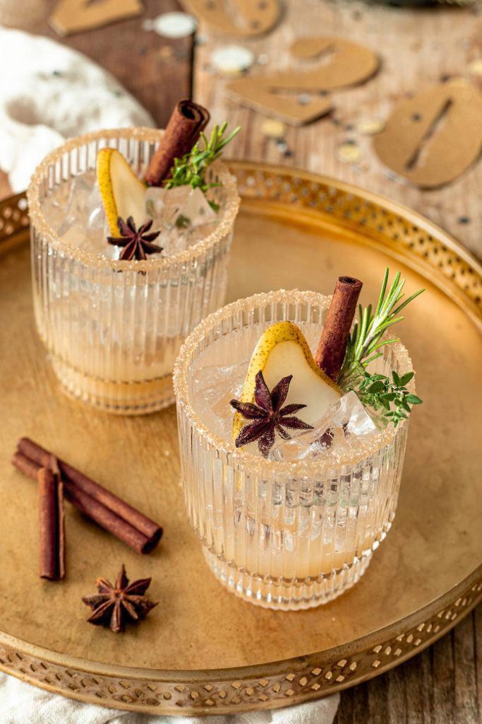 Leckerer Birnen Mocktail gemixt nach einem Rezept von Sweets & Lifestyle®