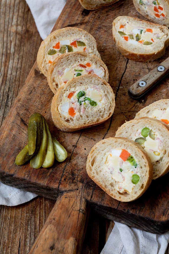Gefülltes Baguette als Fingerfood nach einem Rezept von Sweets & Lifestyle®