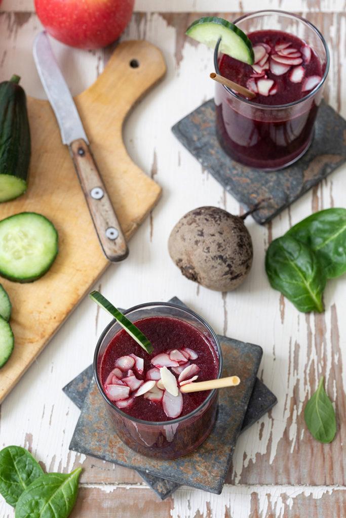 Rote Rübe Smoothie mit Äpfel nach einem Rezept von Sweets & Lifestyle®