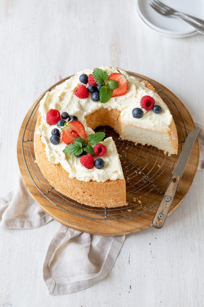 Angel Food Cake Rezept von Sweets & Lifestyle® zur Verwertung von Eiweiß