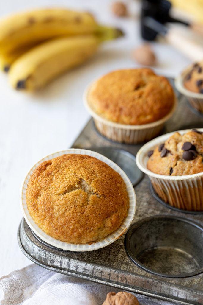 Einfaches Bananen Muffins Rezept zur Bananenverwertung von Sweets & Lifestyle®