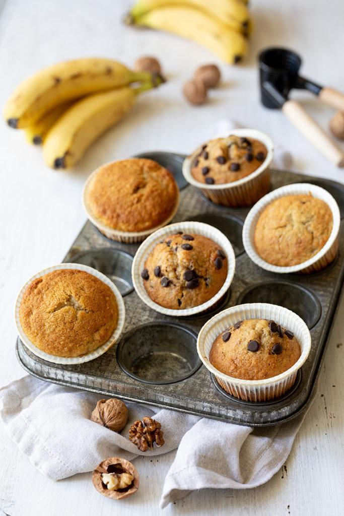 Leckere Bananen Muffins mit Walnüssen nach einem Rezept von Sweets & Lifestyle®