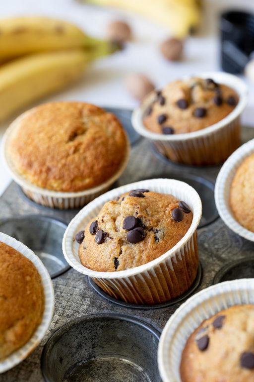 Einfache Bananen Schoko Muffins nach einem Rezept von Sweets & Lifestyle®