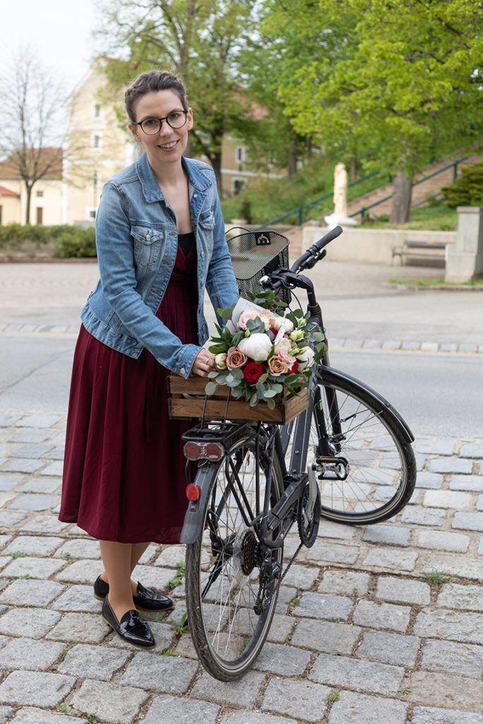 Espressotrüffel nach einem Rezept von Sweets & Lifestyle® als selbst gemachtes Muttertagsgeschenk per Fahrrad an die Mama geliefert