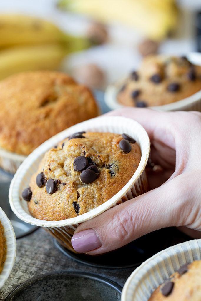 Leckere Bananen Schoko Muffins mit Walnüssen nach einem Rezept von Sweets & Lifestyle®
