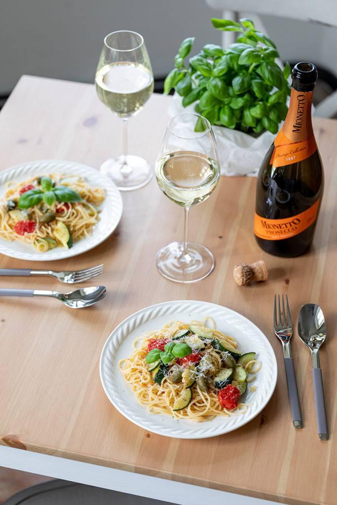 Schnelle Pasta mit Gemüse und Weißweinsauce nach einem Rezept von Sweets & Lifestyle®