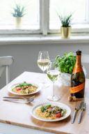 Schnelle Pasta mit Zucchini Tomaten und Weissweinsauce nach einem einfachen Rezept von Sweets & Lifestyle®