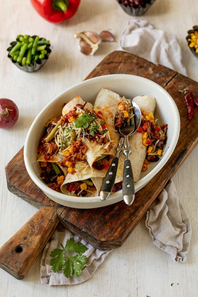 Leckere Enchiladas mit Salsa nach einem einfachen Rezept von Sweets & Lifestyle®