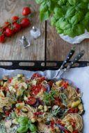 Spaghetti Nudeln mit Ofengemüse als schnelle Pasta mit Ofengemüse nach einem Rezept von Sweets & Lifestyle®