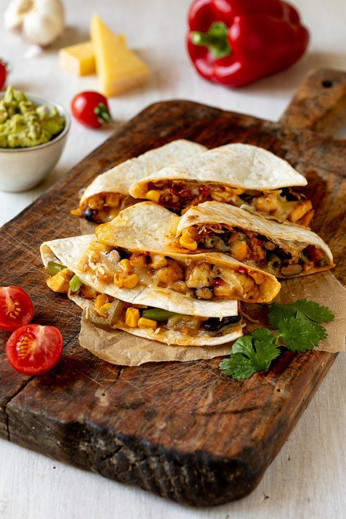 Quesadilla mit Käse Gemüse und Huhn nach einem Rezept von Sweets & Lifestyle®