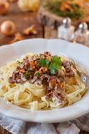 Leckere Eierschwammerl Pasta nach einem Rezept von Sweets & Lifestyle®