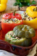 Rezept fuer gefuellte Paprika mit Nudelreis von Sweets & Lifestyle®