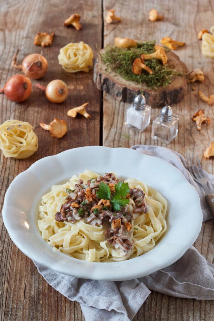 Vegetarische Pfifferlinge Pasta nach einem Rezept von Sweets & Lifestyle®