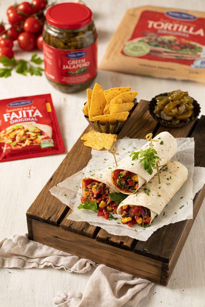 Mexikanische Wraps gemacht mit Santa Maria Produkten nach einem Rezept von Sweets & Lifestyle®