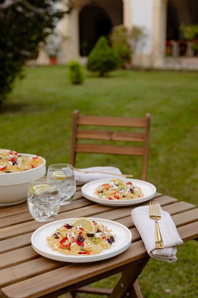 Griechischer Kritharaki Salat mit Reisnudeln nach einem Rezept von Sweets & Lifestyle®
