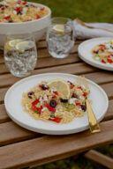 Leckerer Griechischer Nudelsalat mit Schafskäse nach einem Rezept von Sweets & Lifestyle®