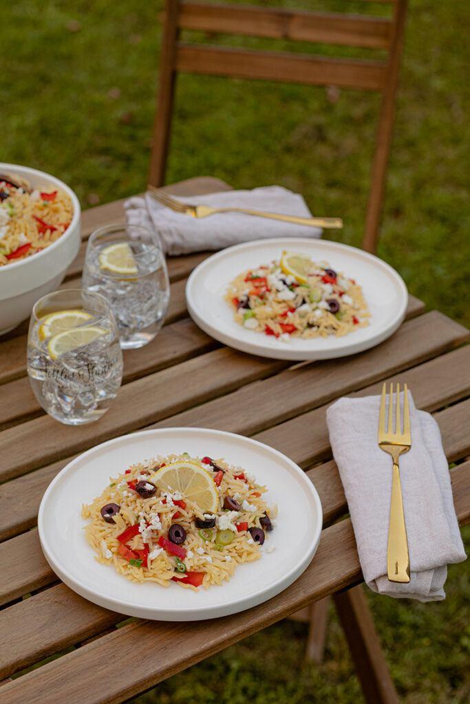 Griechischer Nudelsalat Kritharaki mit Reisnudeln nach einem Rezept von Sweets & Lifestyle®