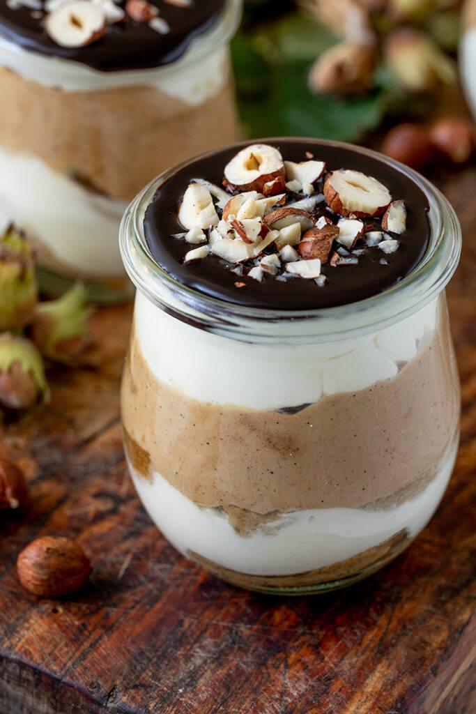 Leckeres Haselnuss Dessert als Dessert im Glas nach einem Rezept von Sweets & Lifestyle®
