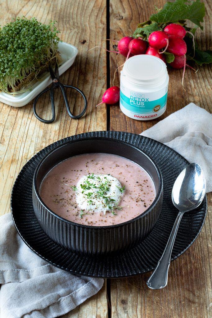 Leckere Radieschensuppe mit Kresse nach einem Rezept von Sweets & Lifestyle®