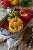 Mit Tofu und Nudelreis gefuellte Paprika nach einem Rezept von Sweets & Lifestyle®