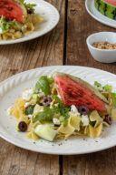 Rezept fuer einen Nudelsalat mit gegrillter Wassermelone von Sweets & Lifestyle®