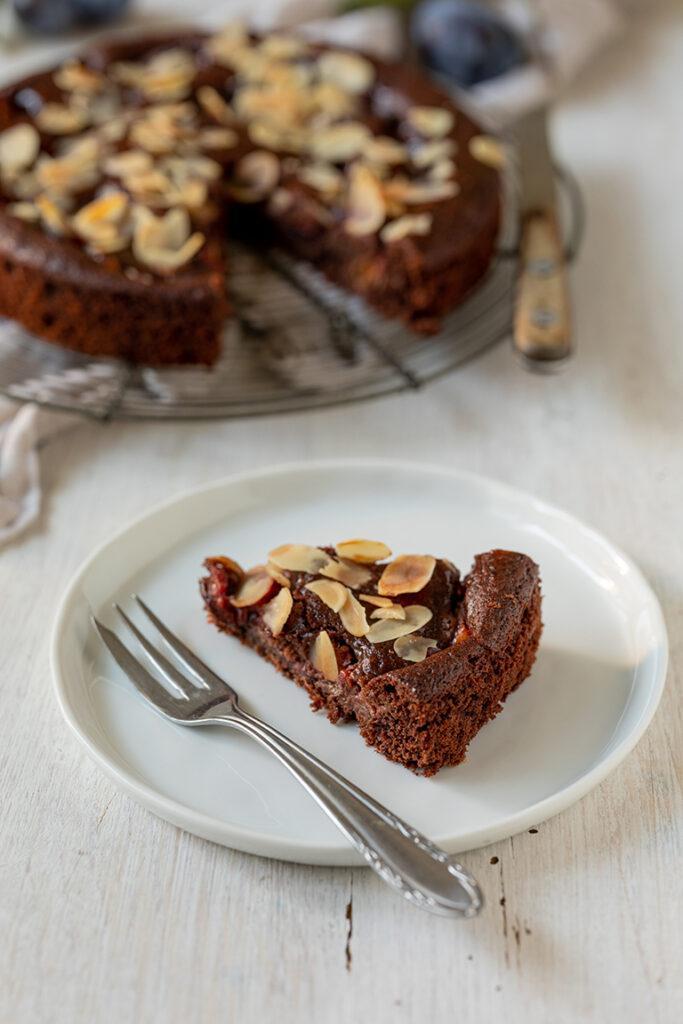 Saftiger Schoko Zwetschken Kuchen nach einem Rezept von Sweets & Lifestyle®