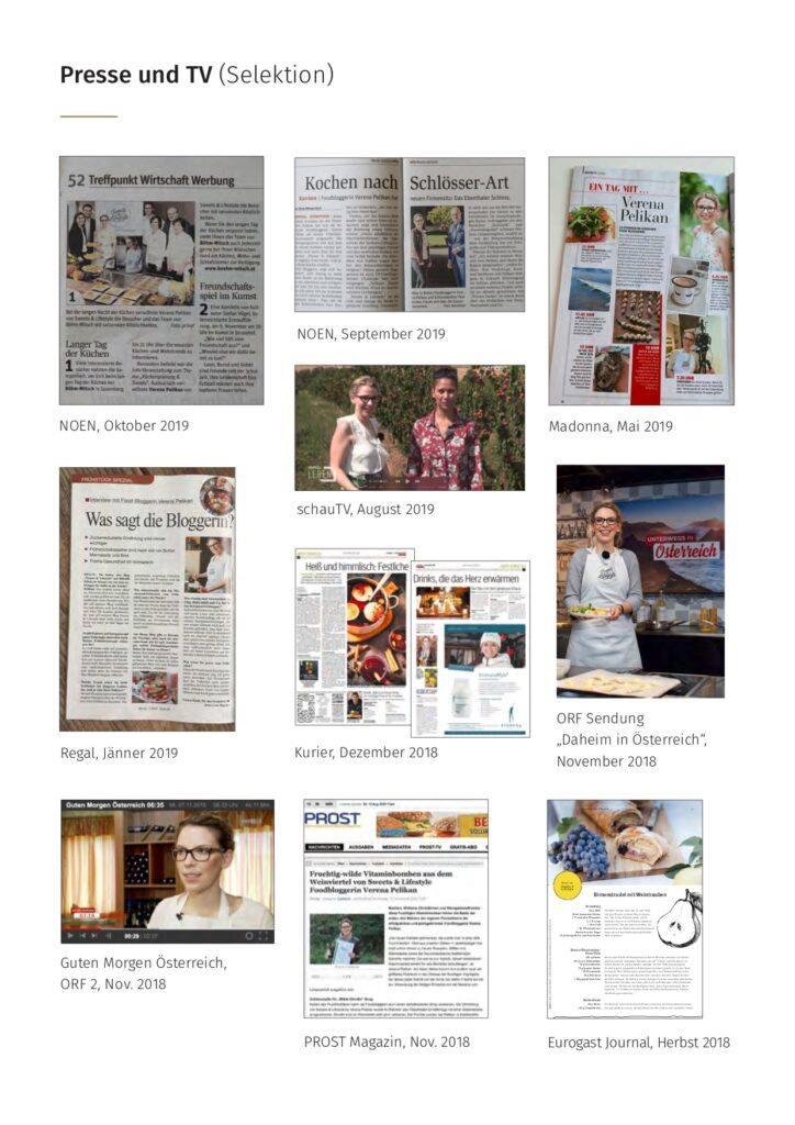 Foodbloggerin Verena Pelikan in Presse und Fernsehen