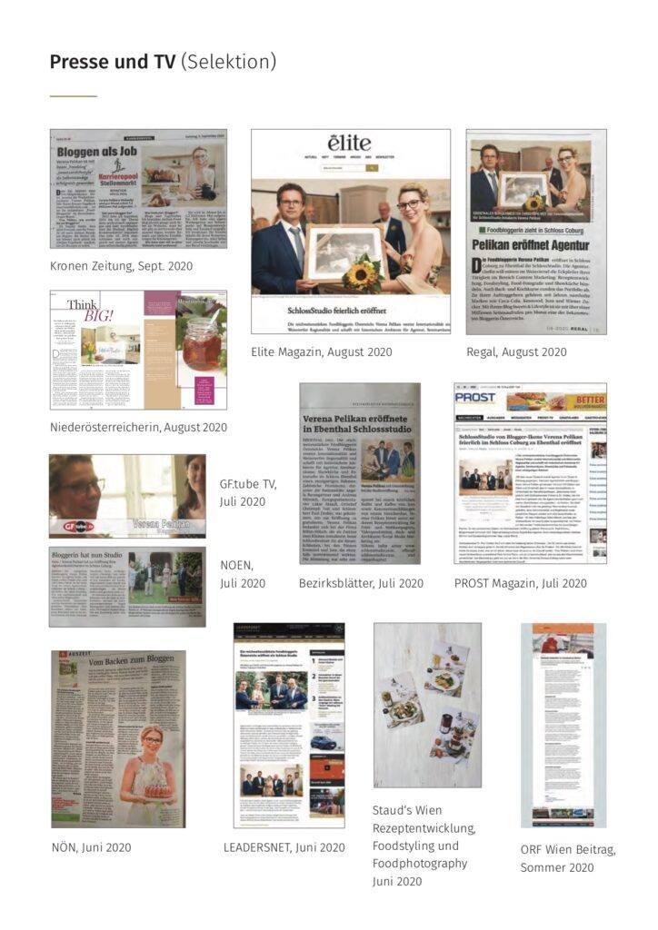 Foodbloggerin Agenturinhaberin und SchlossStudio Besitzerin Verena Pelikan in Presse und TV