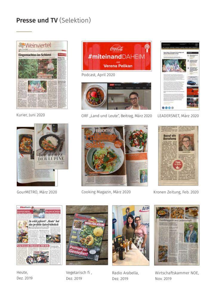 Agenturinhaberin Verena Pelikan mit ihrem SchlossStudio und Foodblog in Presse und TV