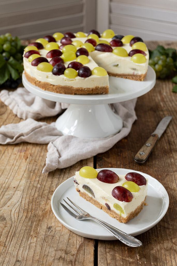 Weintrauben Torte ohne backen mit Topfen nach einem Rezept von Sweets & Lifestyle®